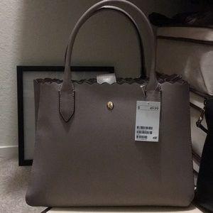 New H&M Grey/Taupe Satchel Handbag